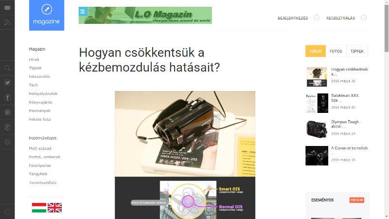 Photonet, photography magazine